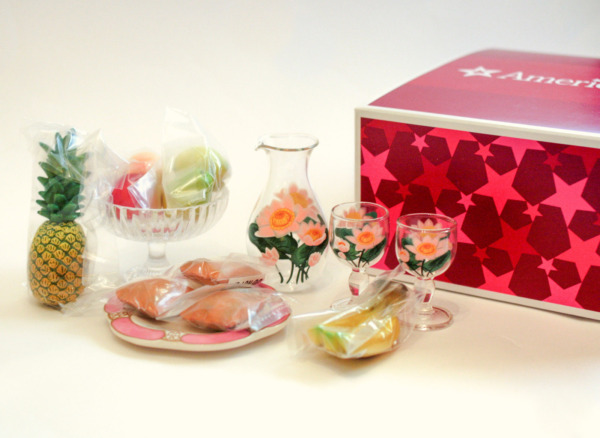American Girl *GLASSWARE amp; TREATS SET* NIB New Orleans Cecile Marie Grace Ret#x27;d