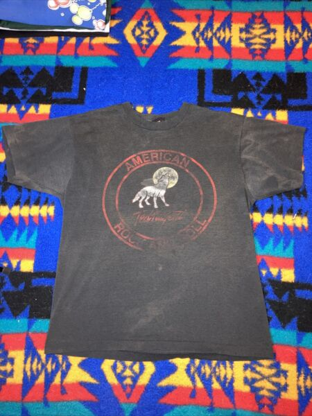 vintage screen stars shirt Ted Nugent American Rock And Roll Wolf Detroit 1990 X