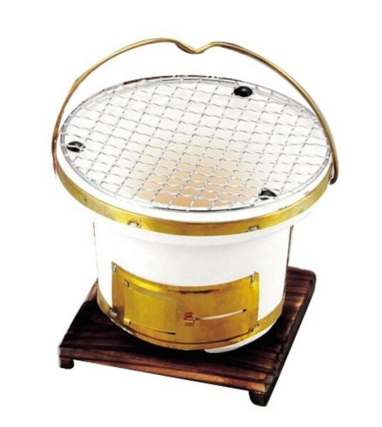 Portable Yakitori Clay Stove Round #L 897 Charcoal Grill Japanese Style Dining