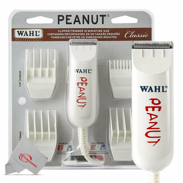 Wahl Professional Peanut #8685 Classic Series Corded Clipper Trimmer White