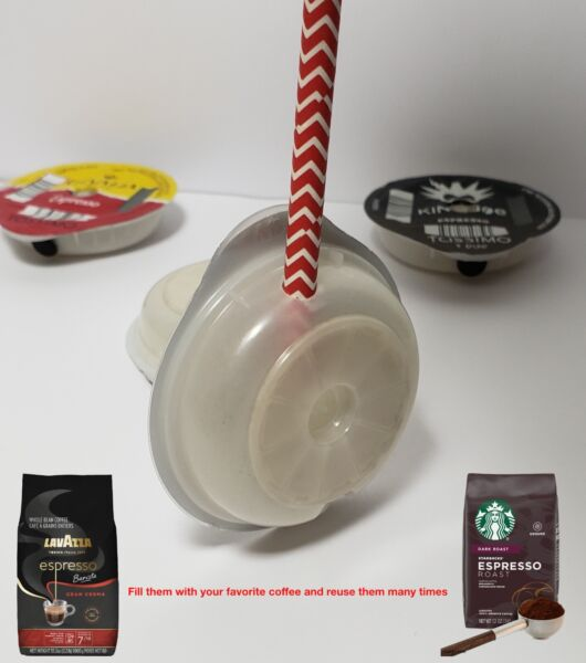 💥💥💥 4 Tassimo T disq Washable Refillable Reusable Coffee Capsule