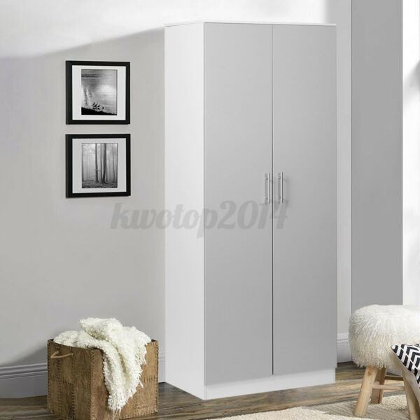 High Gloss Wood Wardrobe Closet Furniture Modern Bedroom Clothes Storage Armoire