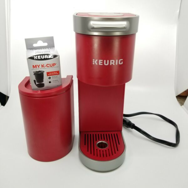 Keurig Mini Plus Coffee Maker Single Serve K Cup Pod Hot Brewer Red With Filter