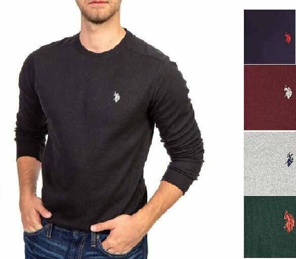 U.S. Polo Assn. Men#x27;s Long Sleeve Crew Neck Solid Thermal Shirt $14.99
