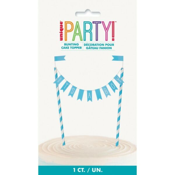 Its a Boy Baby Shower Bunting Cake Topper