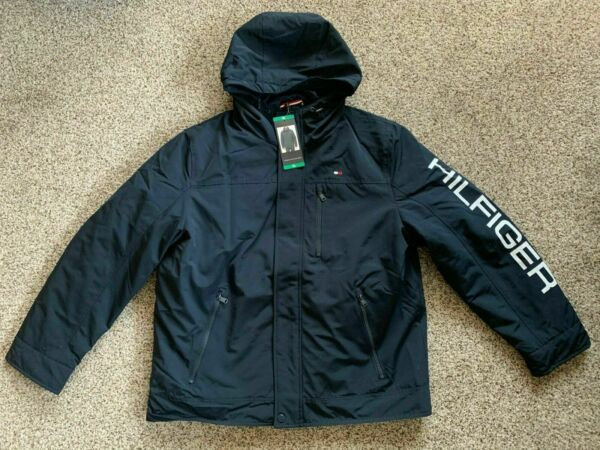 Tommy Hilfiger Men#x27;s 3 in 1 Systems Jacket Navy Size M $59.99