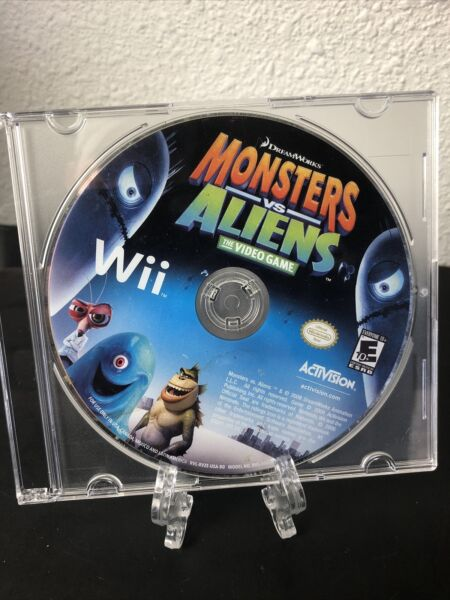 Monsters vs. Aliens Nintendo Wii Game Disc Only Tested Cleaned