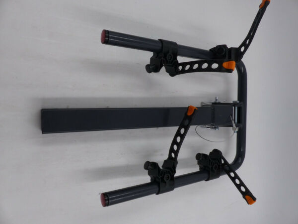 SMALL BLACK AND ORANGE BIKE RACK FOR CAR HITCH FITS TWO BIKES $99.99