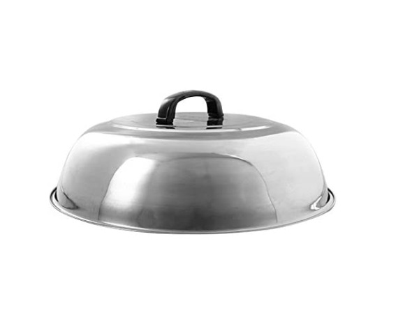 11quot; Cheese Melting Dome Stainless Steel Griddle Grill Round Basting Steam Cover