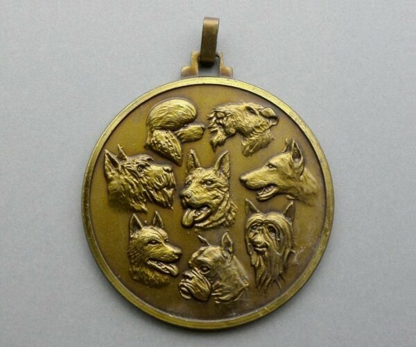Dog Dogs. Vintage Large Pendant Sport Contest. French Medal. $22.99
