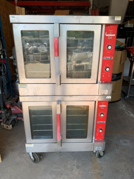 Vulcan Double Stack Full Size Electric Convection Ovens 460V 3 Phase NICE