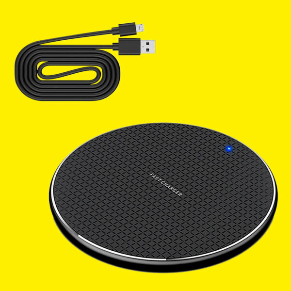 Portable Quick Qi Wireless Charger Charging Pad Mat f Samsung Galaxy Z Fold 2 5G