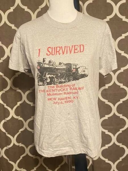 Vintage Screen Stars T shirt Kentucky Railway Size Large Made in USA 90's VTG