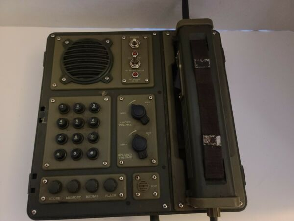 VINTAGE SIGNAL CORPS G.I. PHONE BC 611H R Old Rare Military **UNTESTED**