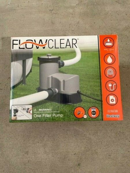 NEW Bestway FlowClear 1500 GPH Filter Pump Above Ground Swimming Pool IN HAND $114.97