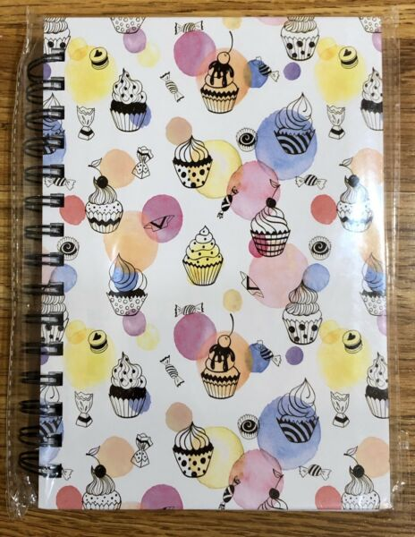 Cupcakes and Candy Wire Bound Spiral Notebook Journal Diary Cute Gift Brand New