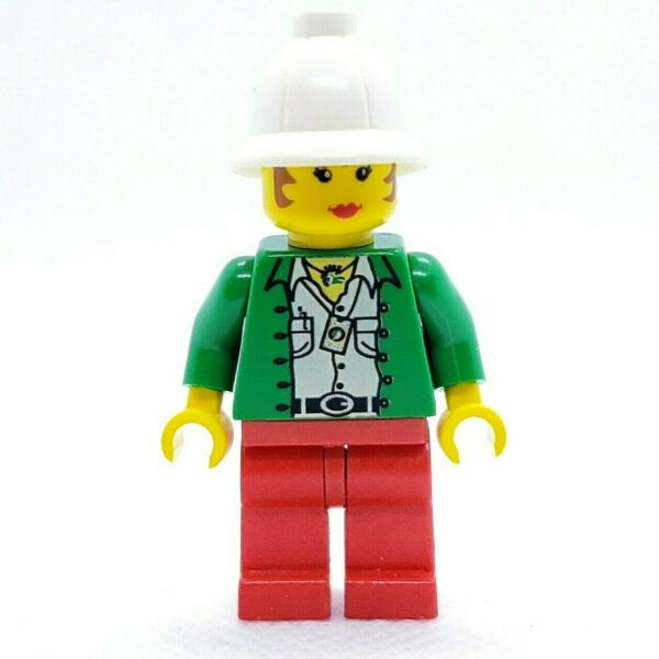 LEGO Minifigure Miss Gail Storm Jungle with Pith Helmet adv016 Adventurers $4.49