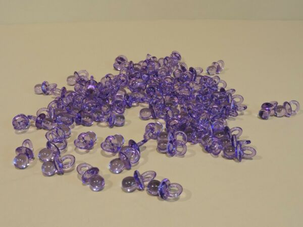 138 PURPLE SMALL ACRYLIC PACIFIER BABY SHOWER CHOOSE FROM ANY COLORS 7 8quot; TALL $7.59