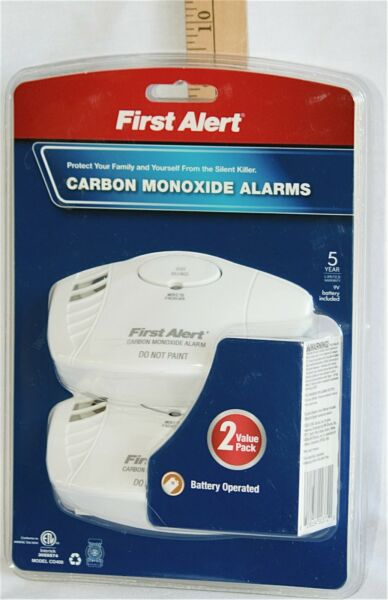 Two Value Pack Carbon Monoxide Alarms * 9V Batteries Included 5 Year NEW $19.91