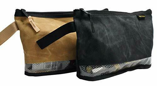Waxed Canvas Zipper Tool bag 12 inch 2 Pack ; Small Tools Canvas Tool Pouch