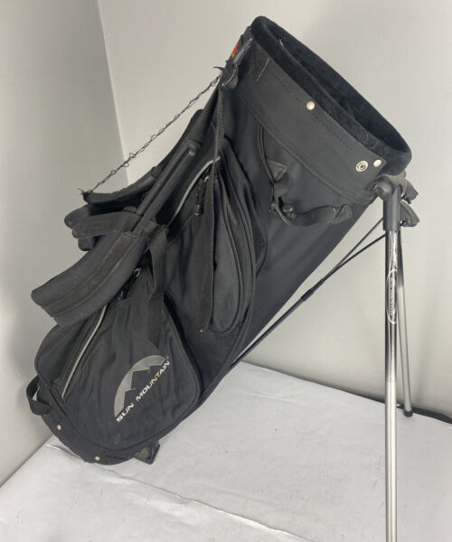 Sun Mountain Avalanche Black Stand Carry Golf Bag 4 Way Dividers W Strap