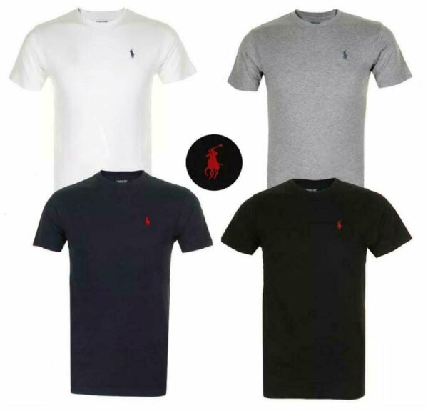 Polo Ralph Lauren Men#x27;s T Shirt Crew Neck Slim Fit Short Sleeve Logo Tee