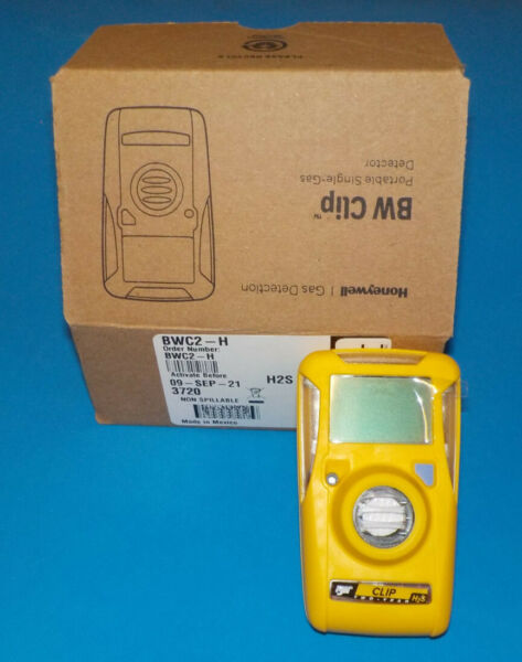 BW Technologies BWC2 H Clip Single Gas H2S Monitor Activate by 09 SEP 21