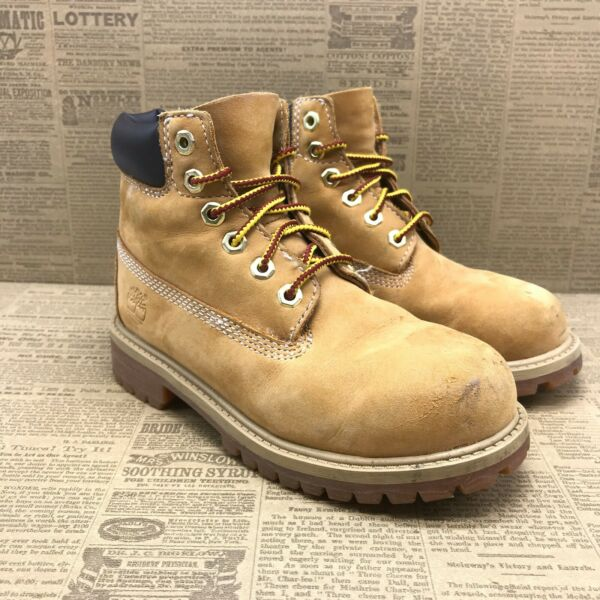 Timberland Boys 12709 Brown Leather Lace Up Round Toe Ankle Boots Size 13 $39.99