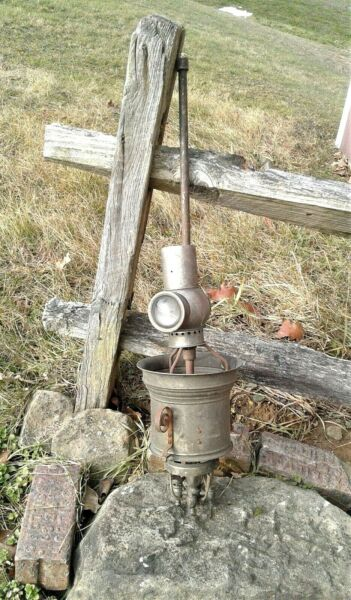 Antique Ceiling Gas Light with Reflector 1880s Era $74.98