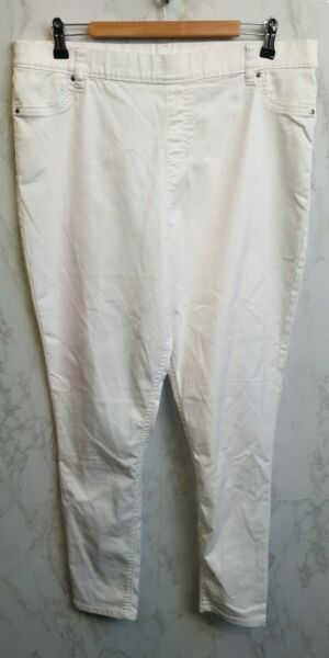 George At Asda Womens White Stretch Jeggings Size 16 GBP 7.50