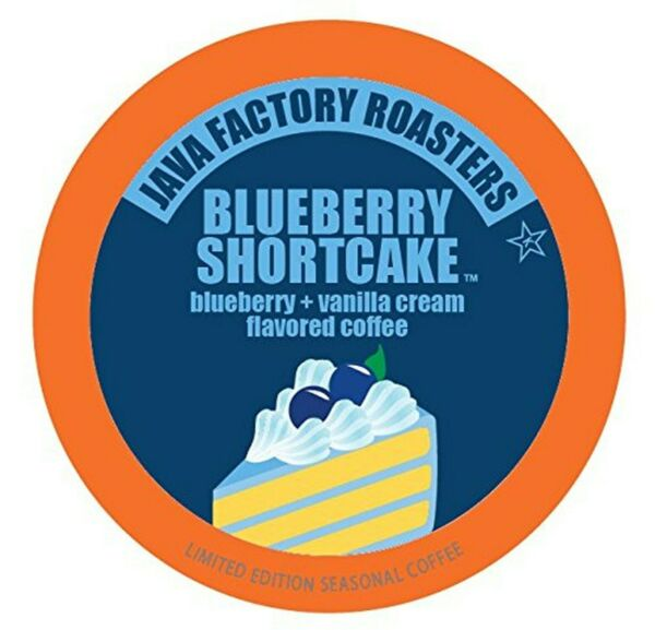 Java Factory Coffee Pods Blueberry Flavored Coffee for Keurig K Cup Brewers ...
