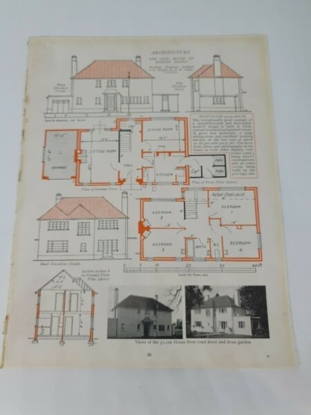 Low Cost £1100 of Modern Design Architecture c.1930s Book Page AU $12.70