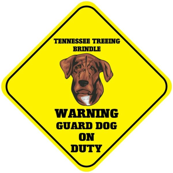 Crossing Sign Tennessee Treeing Brindle Warning Guard Dog Duty Cross Xing Metal $17.99