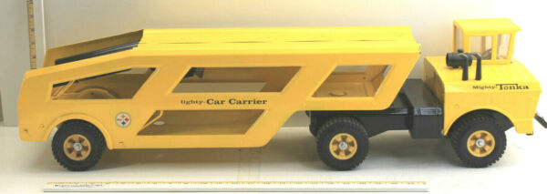 Vintage 1960s Tonka Mighty Car Carrier Transporter Tractor Trailer Pressed Steel $199.99