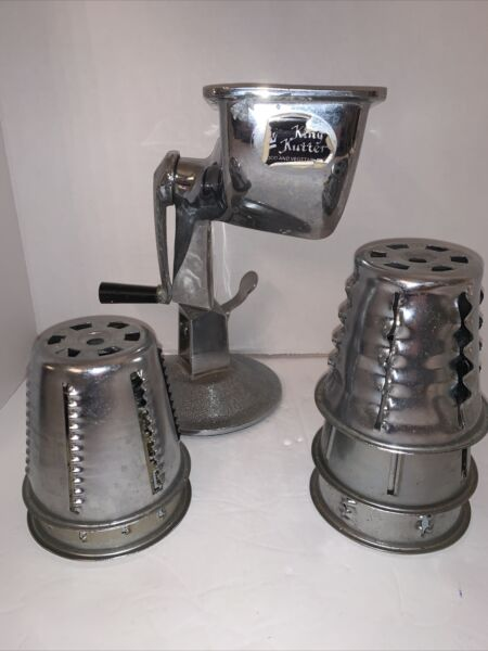 STAINLESS STEEL KING KUTTER FOOD GRINDER PROCESSOR W 5 CONES GUC