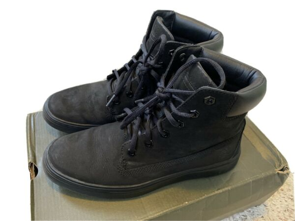 Timberland Women's Black 6 Inch Ankle Boots Size 8.5 Suede $31.00