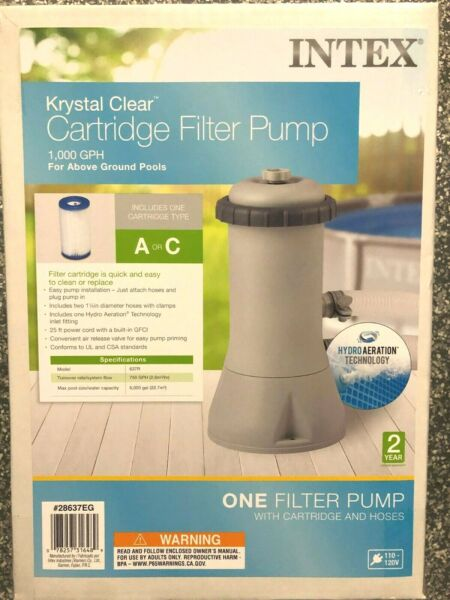 INTEX 1000 GPH EASY SET ABOVE GROUND SWIMMING POOL FILTER PUMP SYSTEM 1000 $144.99
