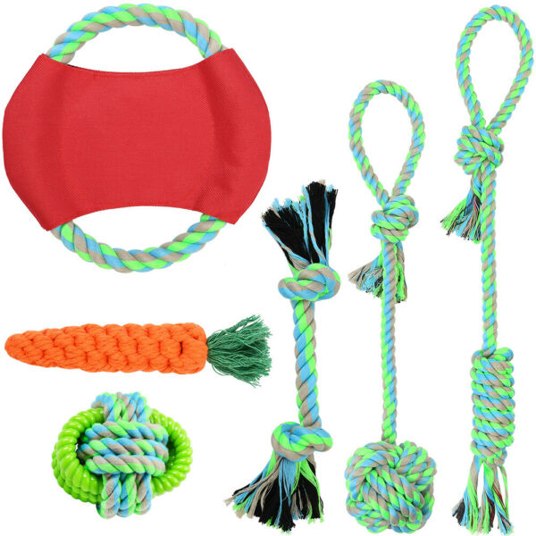 dog rope toys for aggressive chewers set of 6 nearly indestructible dog toys $14.99