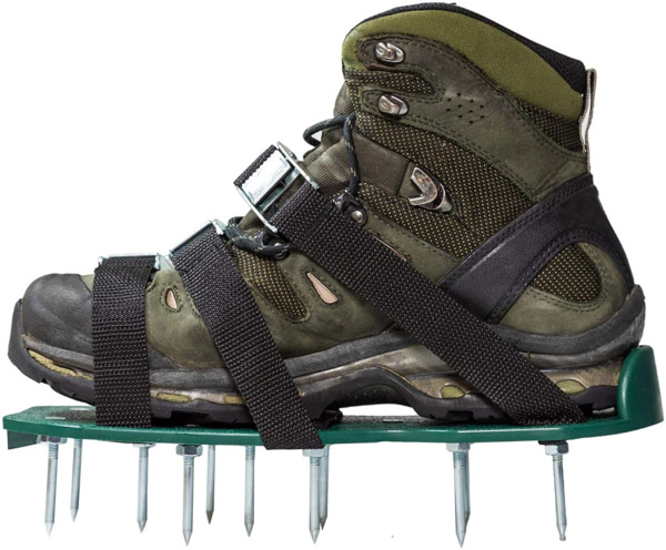 Punchau Lawn Aerator Shoes w Metal Buckles and 3 Straps Heavy Duty Spiked for $26.48