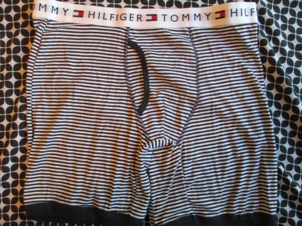 1 New TOMMY HILFIGER Men#x27;s Colors Boxer Brief Large 36 38 Stripped $14.99