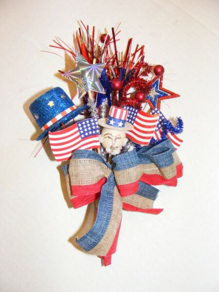 vintage 4th of July corsage