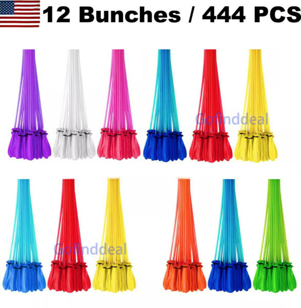 444 Pcs Bunch O Instant Water Balloons Rapid Fill Self Sealing Already Tied $12.99
