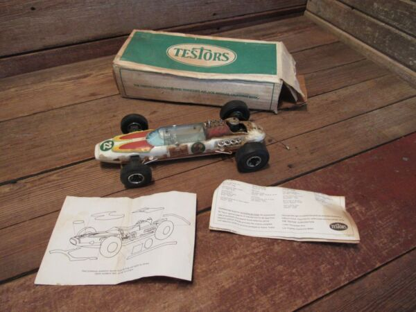 Vintage Testors Gas Powered #22 Sprite Special Formula 1 Indy Tether Car W Box