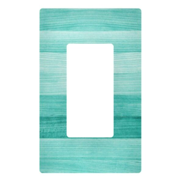 Decorative Light Switch Wall Plate Teal 3 Gang Turquoise Green Wood Switch Pl... $16.57