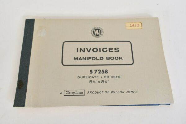 GrayLine Product Of Wilson Jones Invoices manifold Book With Carbon Sheet S7258 $0.99