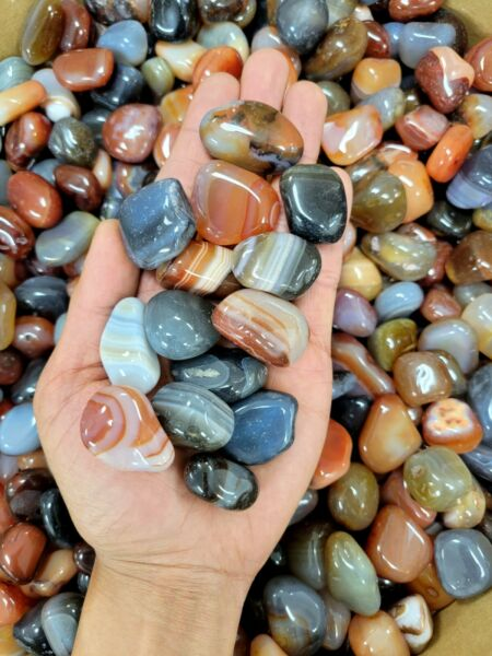 Tumbled Stones Assorted Mixed Polished Agate Crystals Bulk Crystals Blend $11.95