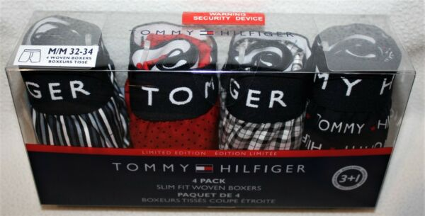Tommy Hilfiger 4 SLIM FIT Woven BOXERS 4 PACK Underwear Limited Edition $42.50 $27.90