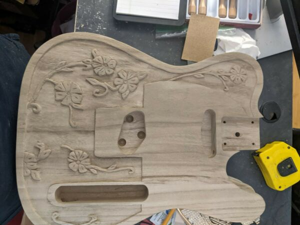Hand Carved DIY Maple Wood Electric Guitar Body Tele $129.99