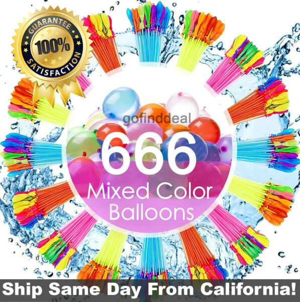 666 Pcs 18 Bunches Self Sealing Instant Water BalloonsBunch O Balloons style $19.97