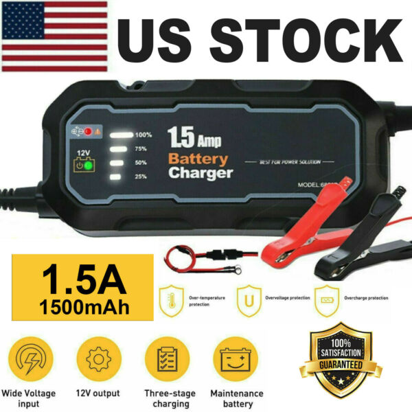 HOT Smart Car Battery Charger Maintainer for 12V AGM GEL WET Battery Vehicles US $17.99